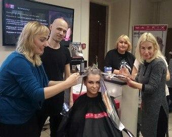 фото с обучения Тренд коллекция 2016 Стробинг волос, Спахова Ольга, Москва